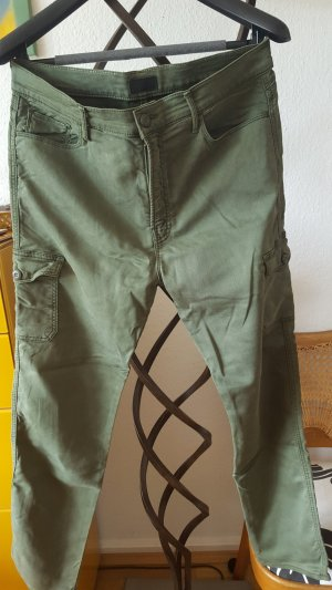 Mother Cargo Pants dark green-olive green