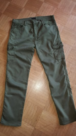 Mother Cargo Pants dark green-olive green cotton