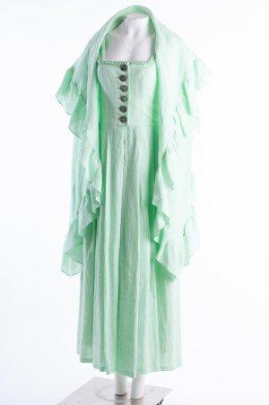MOTHWURF - Trachtenkleid mit Stola Leinen Mintgrün