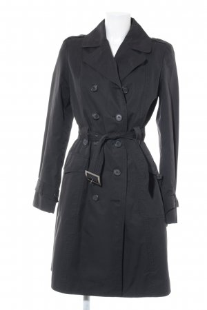 Motivi Trenchcoat schwarz Brit-Look