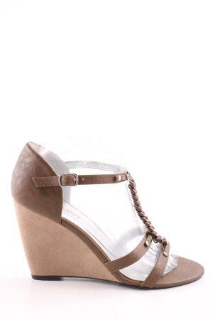Motivi Wedges Sandaletten braun-wollweiß Business-Look