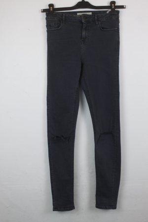 Topshop Jeans a vita alta antracite Cotone