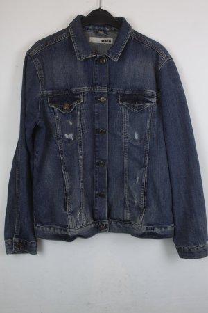 Moto Denim Jacket dark blue cotton