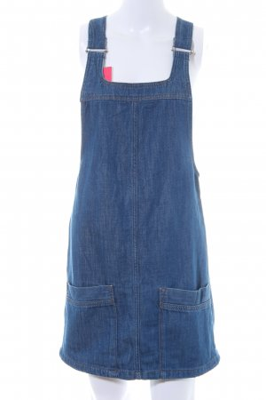 Moto Pinafore Overall Skirt dark blue retro look