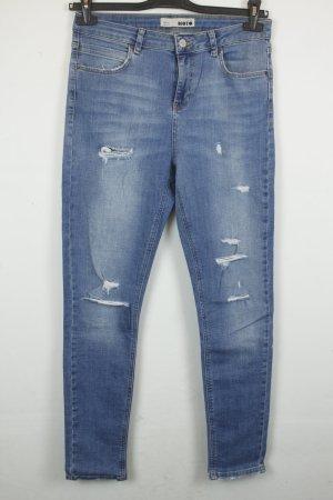 MOTO Topshop High Waist Jeans Gr. 30 Used Look