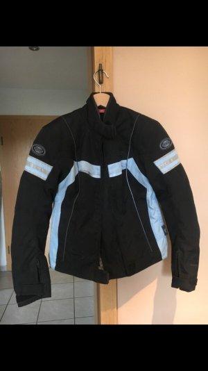 Motorrad Jacke Marke IXS Schwarz Blau Textil