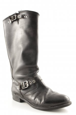 Biker Boots black brown biker look