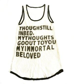 motto shirt / feiner strick