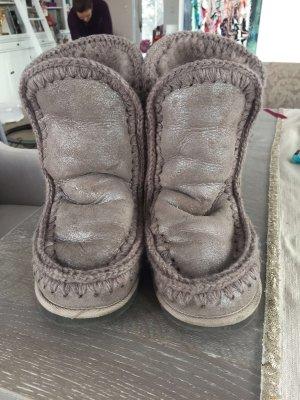 Stivale da neve grigio chiaro-argento Pelliccia