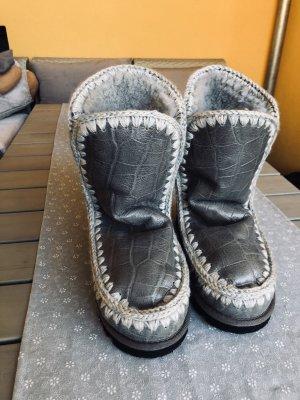 Mou Bottes de neige gris-gris clair