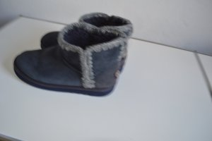Mou Fur Boots dark grey leather