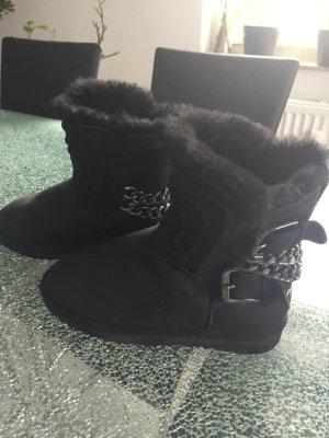Botas de nieve negro Cuero
