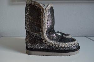Mou Eskimo Boots dunkelgrau silber Gr. DE 37 Neu