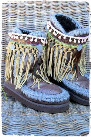 Mou Lammfell Boots Bronze braun metallic Gr.38
