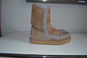Mou Fur Boots sand brown leather