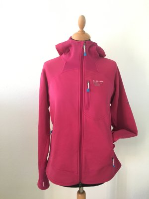 Mountain Hardwear Polar Tech Power Stretch Outdoor Berge large L pink Fuchsia zipper warm kuschelig funktional leicht Hoodie Kapuze