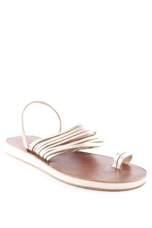 mourtzi Sandalo toe-post marrone-oro stile spiaggia