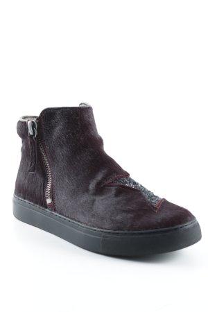 MOVIE'S High Top Sneaker bordeauxrot-schwarz Sternenmuster Casual-Look