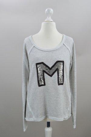 MOXY Pullover mit Stickereien grau Größe 38