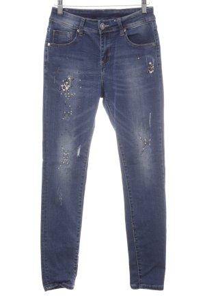 Mozzaar Skinny Jeans dunkelblau Casual-Look