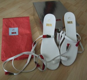Roman Sandals white leather