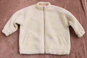 Chaqueta de lana crema-blanco puro