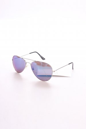 Mr. Spex Pilot Brille silberfarben-blau klassischer Stil
