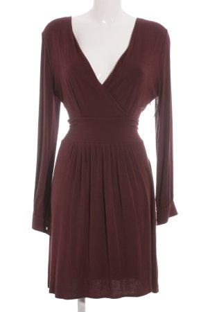 Mrs. Foxworthy Jerseykleid purpur-schwarz Casual-Look