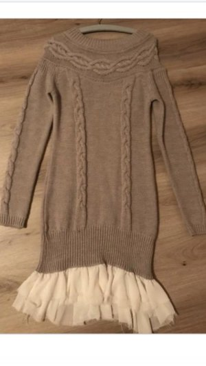 Mrs. Foxworthy Sweater Dress beige-natural white