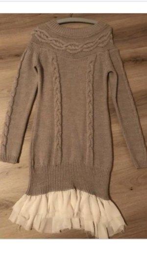 Mrs. Foxworthy Sweater Dress beige-natural white
