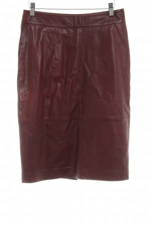 Mrs. Foxworthy Leather Skirt bordeaux-brown red elegant