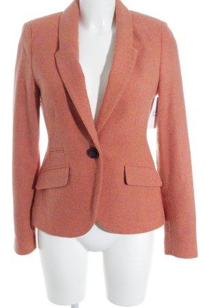 Mrs. Foxworthy Long-Blazer orange-helllila Zackenmuster Business-Look