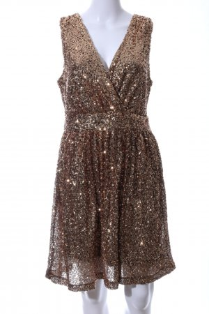 Mrs. Foxworthy Sequin Dress bronze-colored glittery