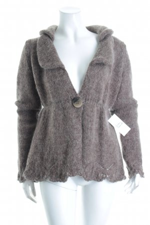 Mrs. Foxworthy Strickjacke graubraun Street-Fashion-Look