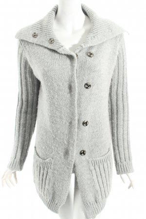 Mrs. Foxworthy Strickjacke hellgrau Casual-Look