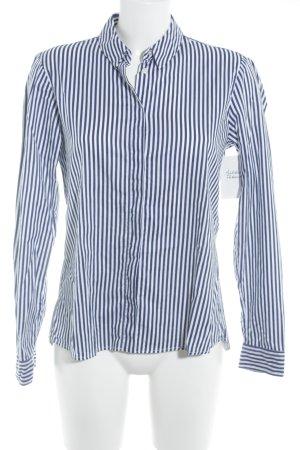 Mrs & HUGS Hemd-Bluse blau-weiß Streifenmuster Casual-Look