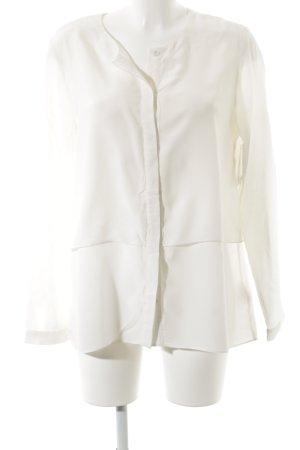 Mrs & HUGS Hemdblouse licht beige zakelijke stijl