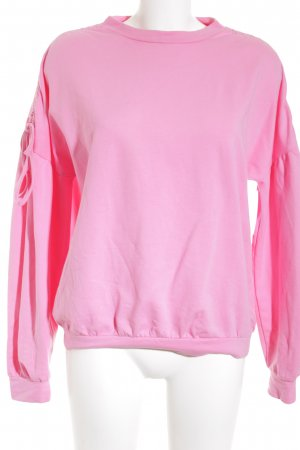Mrs & HUGS Oversized Pullover rosa-neonpink Casual-Look