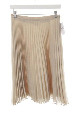 Mrs & HUGS Plisseerock beige Casual-Look