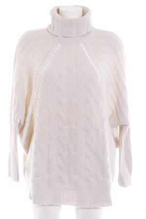 Mrs & HUGS Maglione dolcevita bianco sporco Motivo a maglia leggera soffice