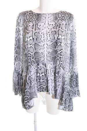 Mrs & HUGS Silk Blouse animal pattern casual look