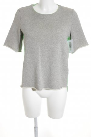 Mrs & HUGS Shirttunika hellgrün-grau Street-Fashion-Look