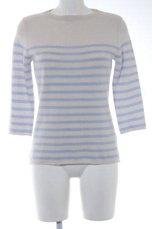 Mrs & HUGS Strickpullover creme-himmelblau Streifenmuster Casual-Look