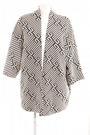 MS Moda Oversized Jacket black-natural white abstract pattern casual look