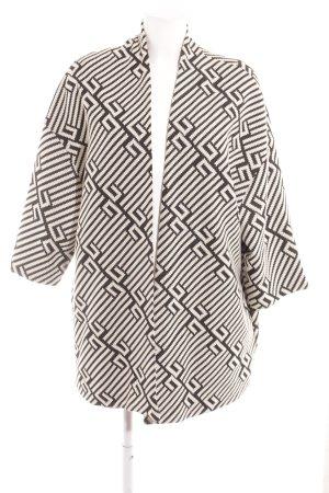 MS Moda Oversized Jacke schwarz-wollweiß abstraktes Muster Casual-Look