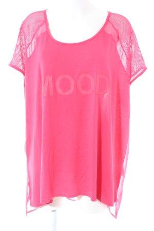 MS Moda T-Shirt pink Schriftzug gedruckt Casual-Look
