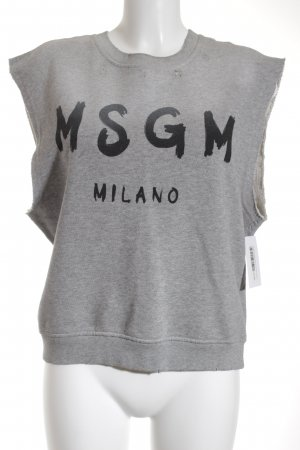 MSGM Kurzarmpullover schwarz-hellgrau Street-Fashion-Look