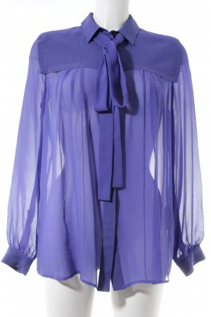 MSGM Langarm-Bluse dunkelblau klassischer Stil