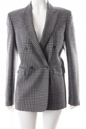 MSGM Long-Blazer schwarz-grau Karomuster Business-Look