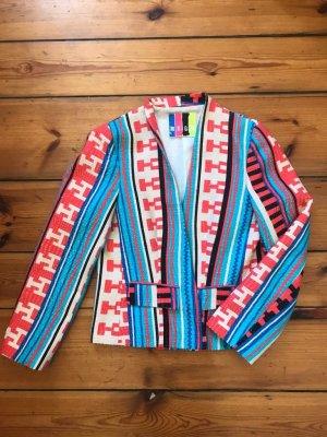 MSGM - originelles Jacket in Afrika-Style, NP 400 €! Gr. S/ 36 (ital. 42), rot-blau-schwarz-weiß